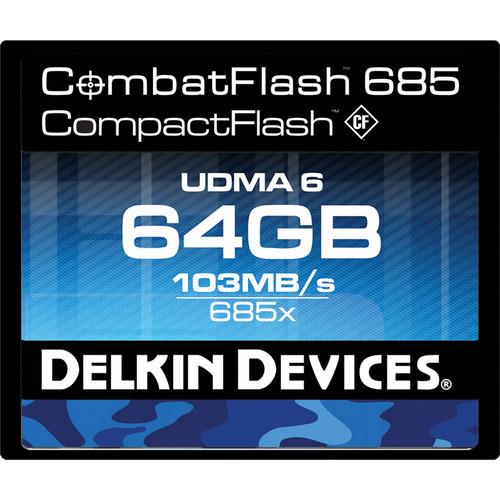 Delkin Devices 64GB CompactFlash Memory Card CombatFlash 685