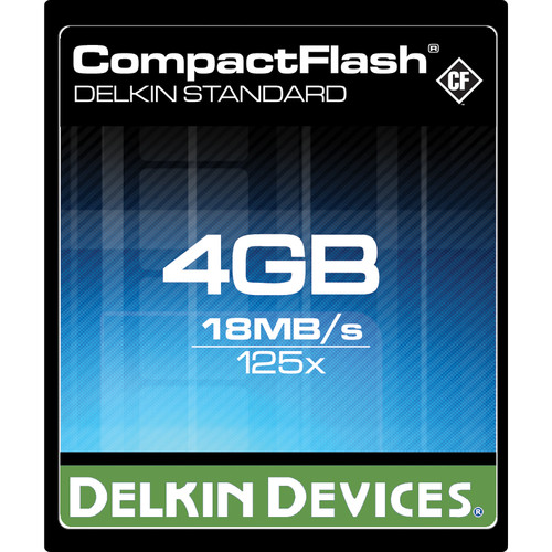 Delkin Devices 4GB CompactFlash Memory Card eFilm 125x