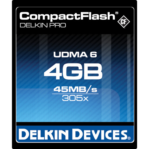 Delkin Devices 4GB CompactFlash Memory Card Pro 305x UDMA