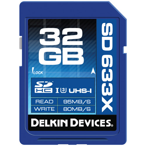 Delkin Devices 32GB Elite UHS-I SDHC Memory Card (Class 10 / U3)