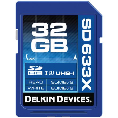 Delkin Devices 32GB Elite UHS-I SDHC Memory Card (Class 10 / U3)