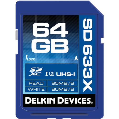 Delkin Devices 64GB Elite UHS-I SDXC Memory Card (Class 10 / U3)