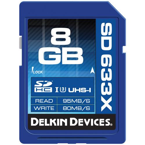 Delkin Devices 8GB Elite UHS-I SDHC Memory Card (Class 10 / U3)
