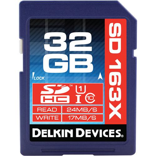 Delkin Devices 32GB SDHC Memory Card Pro Class 10