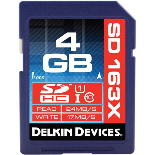 Delkin Devices 4GB SDHC Memory Card Pro Class 10