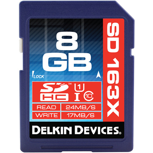 Delkin Devices 8GB SDHC Memory Card Pro Class 10