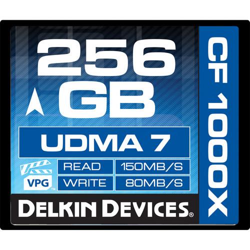 Delkin Devices 256GB CompactFlash 1000x UDMA Memory Card