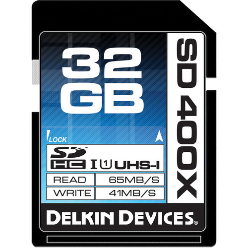 Delkin Devices 32GB SDHC Memory Card 400x UHS-I