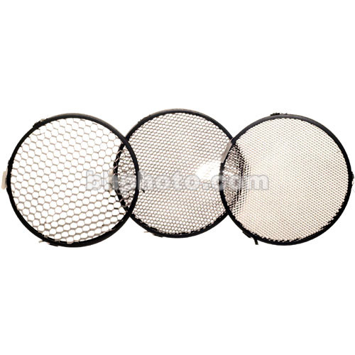 "Delta 1 Honeycomb Grid Set of 3 - 7"", Black"