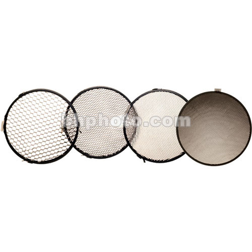 "Delta 1 Honeycomb Grid Set of 4 - 7.5"", Black"