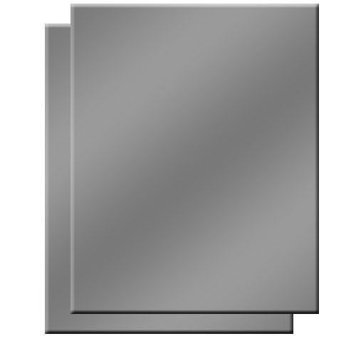 """Delta 1 Gray Card - 8x10"""" (2-Pack)"""