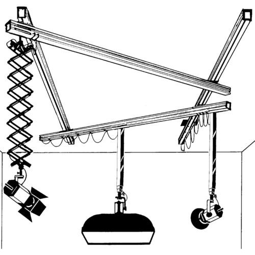 Delta 1 Two Telescope/One Scissor Light Mover System