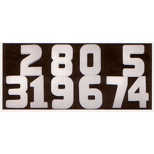 """Delta 1 Soft Number Set 0 - 9, Gray - 18"""" (45.7cm) High"""