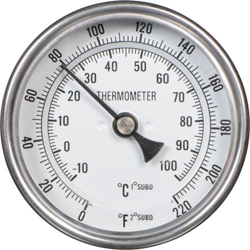 "Delta 1 3"" Dial Darkroom Thermometer 1/2"" IPC"