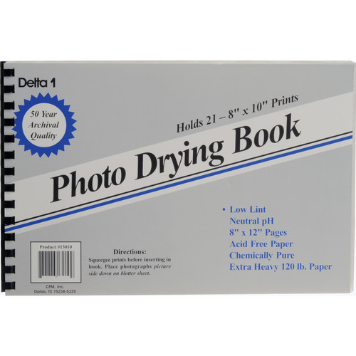"""Delta 1 Photo Drying Book (8 x 12"""")"""