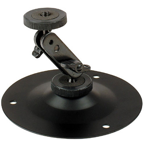"Delvcam DELV-B040 Fixed Base Mount with Swivel & Tilt 4"" Head"