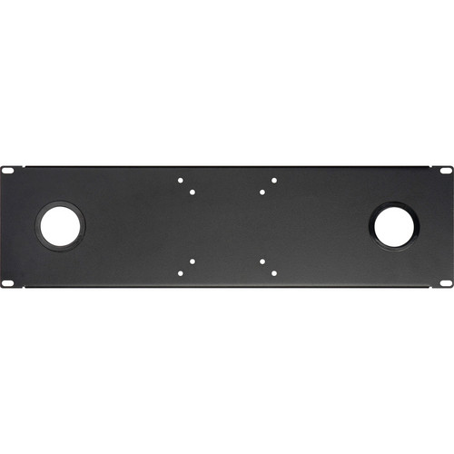 """Delvcam ULCD-2 Universal LCD Rackmount with Two 5/8"""" Grommets (Black)"""