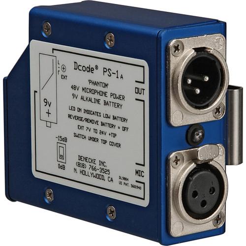 Denecke PS-1A - Portable Single Channel 48V Phantom Power Supply