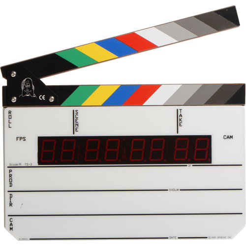 Denecke TS-3 Time Code Slate - Color Clapper, EL Backlit Display