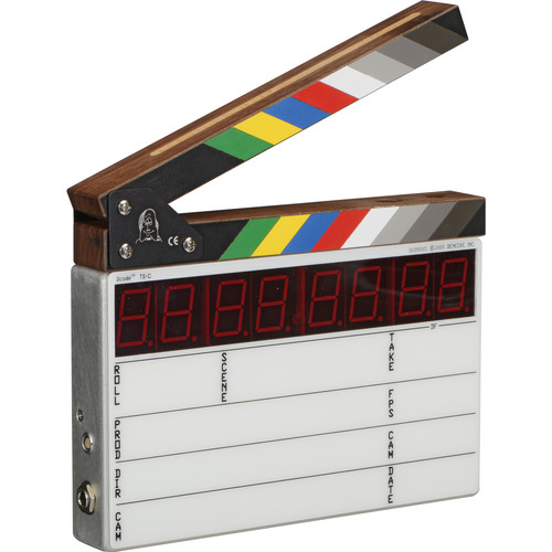 Denecke TS-C Compact Time Code Slate - Color Clapper, EL Backlit