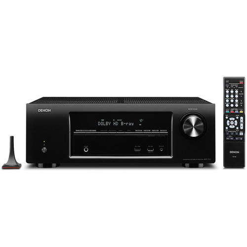 Denon AVR-1713 5.1 Channel 3D Pass Through and Networking Home Theater Receiver