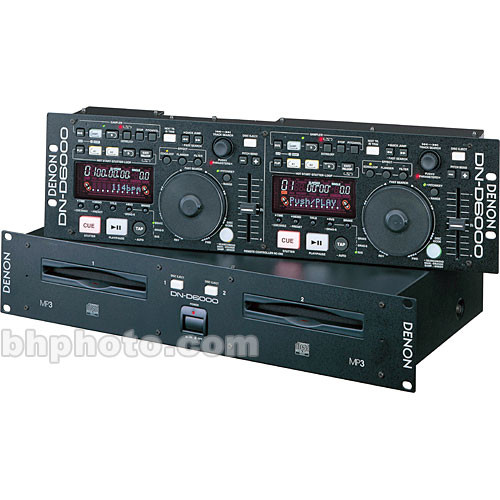 Denon DJ DN-D6000 - Rackmount DJ Dual CD Player