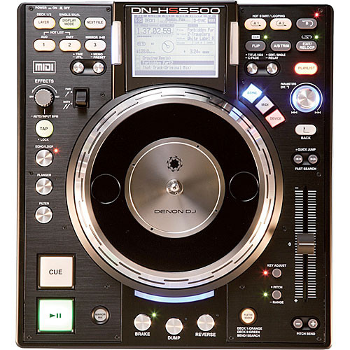 Denon DJ DN-HS5500 DJ Media Player Turntable and Controller with Direct-Drive Platter