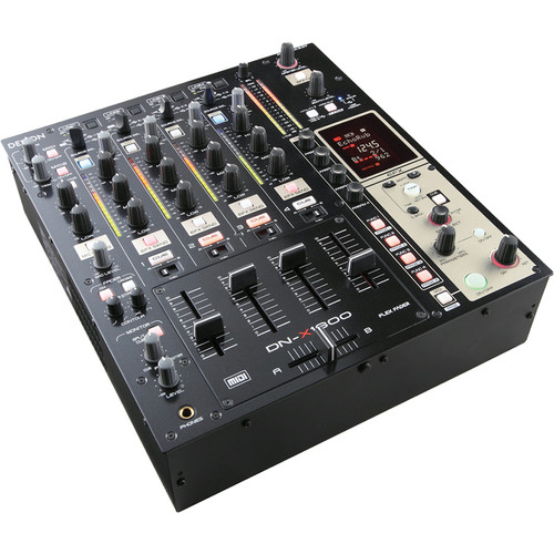 Denon DJ DN-X1600 4-Channel Digital DJ Mixer with Effects and MIDI Control
