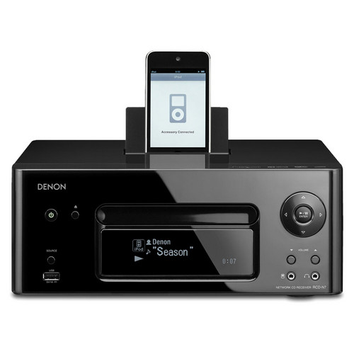 Denon RCD-N7 Network Ready Receiver with iPod Dock (Black)