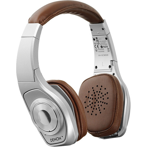 Denon Denon Globe Cruiser Wireless, Noise-Cancelling, On-Ear Headphones (Silver)
