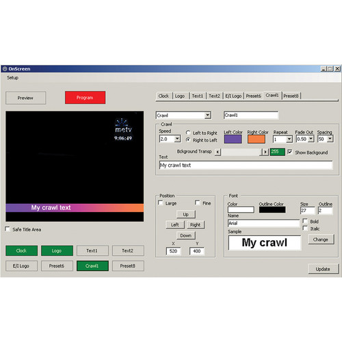 Deyan Automation Systems OnScreen with GPI Support