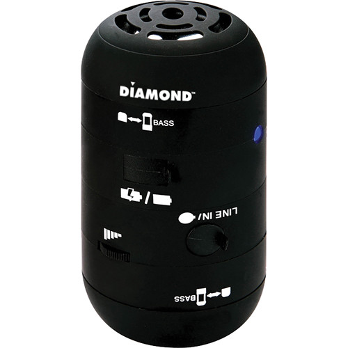 Diamond MSP100B Mini Rocker Mobile Portable Speakers for iPhone, iPad, and Smartphone - Black
