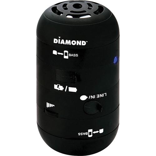 Diamond MSP100B Mini Rocker Mobile Portable Speakers for iPhone, iPad, and Smartphone - Black