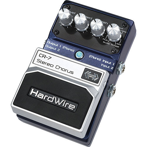 DigiTech CR-7 HardWire Stereo Chorus Stompbox Pedal