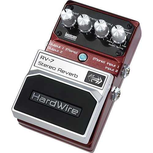 DigiTech RV-7 HardWire Stereo Reverb Stompbox Pedal
