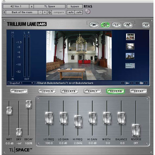 Digidesign TL Space Reverb Plug-In (Native Edition)