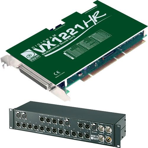 Digigram VX1221HR - PCI Universal Digital Audio Card (with BOB12 Breakout Box)