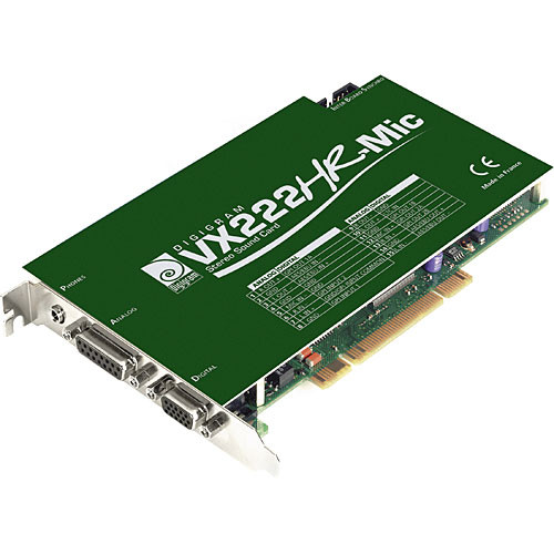 Digigram VX222HR with Mic Input - PCI Universal Digital Audio Card