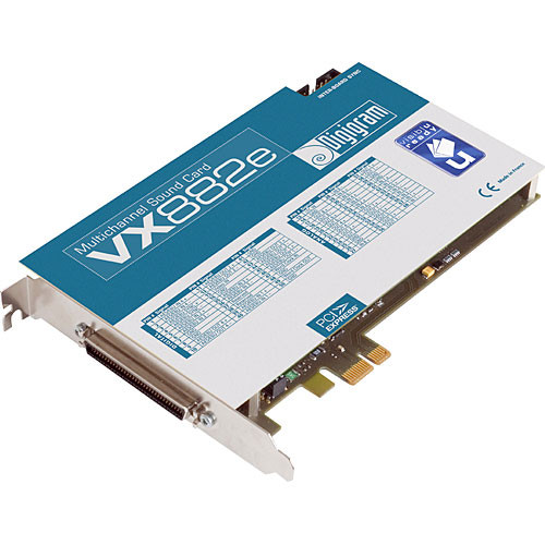 Digigram VX882e - 8 Channel Analog and Digital Input / Output, 24-Bit/192kHz PCIe (PCI Express) Sound Card  - Windows