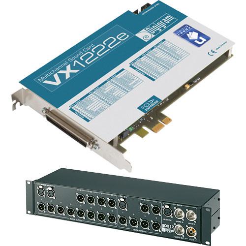 Digigram VX1222e - PCIe Digital Audio Card (with BOB12 Breakout Box)