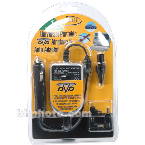 Digital Concepts DVD-401 Universal DVD Car and Plane 12-Volt Adapter