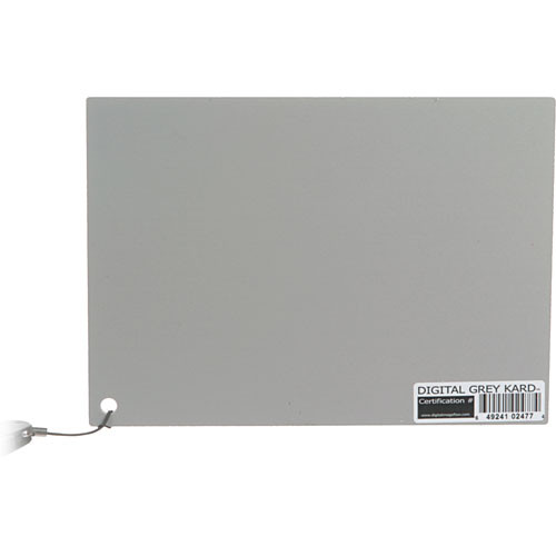 DGK Color Tools Digital Grey Kard - Event White Balance Card with Premium Lanyard