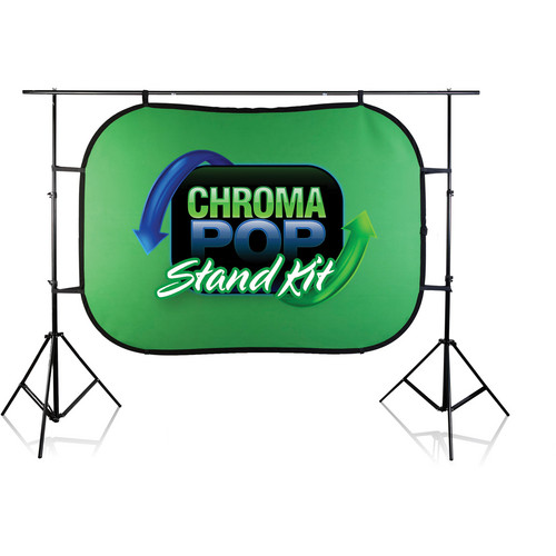 Digital Juice 5 x 7' Chromapop Blue/Green and Stand Kit (Blue/Green)