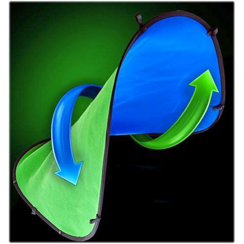 Digital Juice Chroma Pop Portable Screen Background (7x5', Blue/Green)