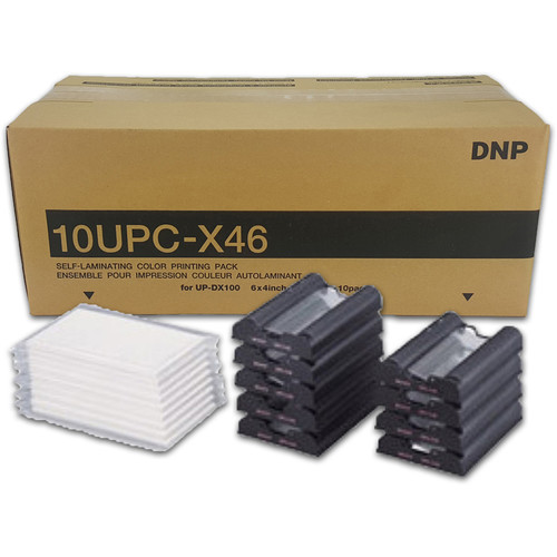 """DNP 4.0 x 6.9"""" Self-Laminating Color Print Pack For Sony UP-DX100 (10 Sets)"""