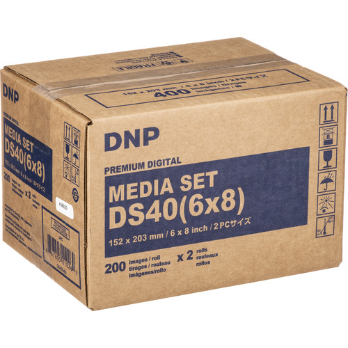 "DNP 6 x 8"" Print Pack for DS40 Printer (2-Pack)"