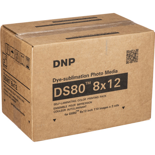 "DNP 8 x 12"" Print Pack for DS80 Digital Photo Printer (2 Rolls)"
