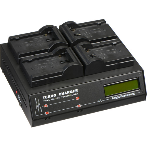 Dolgin Engineering TC400-TDM Four-Position Simultaneous Battery Charger for Canon BP-900 Series
