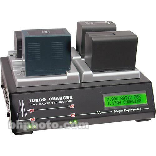 Dolgin Engineering TC400-TDM Four-Position Simultaneous Battery Charger for Panasonic VBD58, VBR118G, VBR89G, VBR59P, and D54
