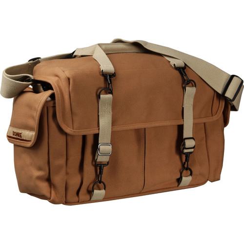 Domke F-7 Double AF Canvas Shoulder Bag - for 2 Large Film or Digital SLR Cameras with 4-5 Lenses and Accessories (Sand)